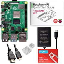 Argon x Raspberry Pi 4 Kit (1 Gig)   Barebones   Includes Micro HDMI to HDMI Cable, Type-C Power Supply, and Quick Start Guide for Raspberry Pi 4