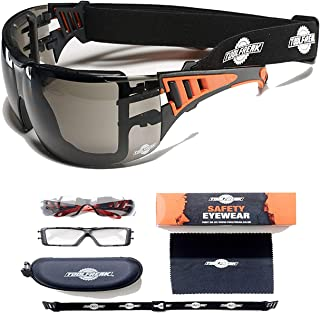 ToolFreak-Rip Out Safety Glasses & Sunglasses,Wraparound Tinted Lens,Can Be Worn As Goggles for Work & Sport, Impact and U...