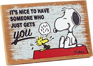 Hallmark Peanuts Someone Who Gets You Wood Quote Sign Plaques & Signs Movies & TV