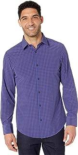 Mizzen + Main Holmes Gingham Sport Shirt Blue 2XL - Trim