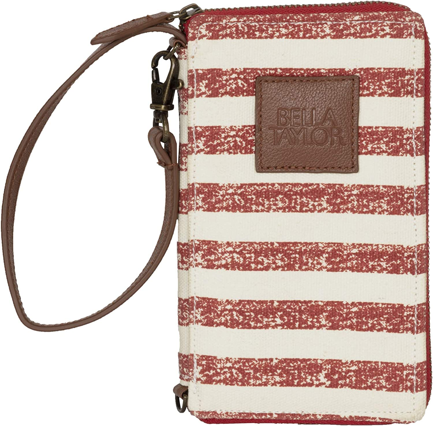 Bella Taylor American Dream Modern Wristlet Wallet Cell Phone Wallet; Red, Cream, and Navy
