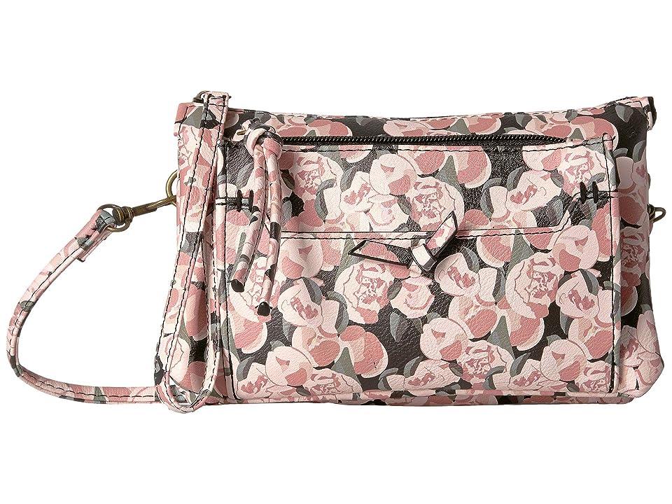T-Shirt & Jeans Three-Way Wristlet/Crossbody/Belt Bag (Rose) Handbags