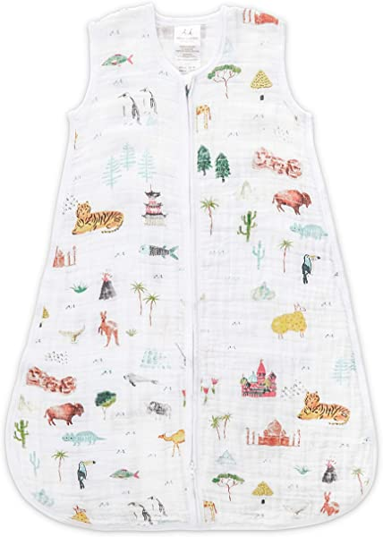 Aden Anais Classic Sleeping Bag 100 Cotton Muslin Wearable Baby Blanket Extra Large 18 Months Around The World Sites
