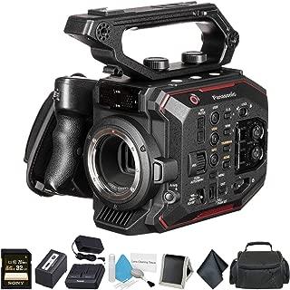 Panasonic AU-EVA1 Compact 5.7K Super 35mm Handheld Cinema Camera Body? AU-EVA1PJ - Bundle with 32GB Memory Card + Carrying Case - International Version