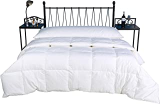 Eastwarmth Luxury 75% White Goose Down Comforter/Blanket/Duvet Insert Lightweight Summer Spring, 100% Organic Cotton, Twin/Twin XL Size, 650+ Filling Power