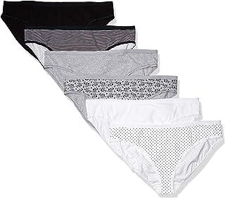 Amazon Essentials Women's Plus-Size 6-Pack Cotton Stretch Bikini Panty