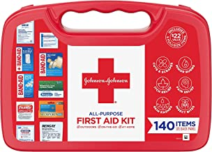 Johnson & Johnson All-Purpose Portable Compact First Aid Kit for Minor Cuts, Scrapes,..