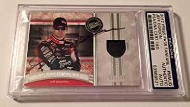 2012 Press Pass Fanfare Jeff Gordon Signed Race Used Firesuit Slabbed - PSA/DNA Certified - Autographed NASCAR Cards