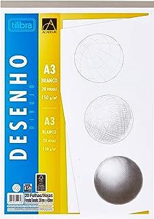 Caderno Colado Desenho A3 Branco Académie 20 Folhas, Tilibra, 121649 - 1 un