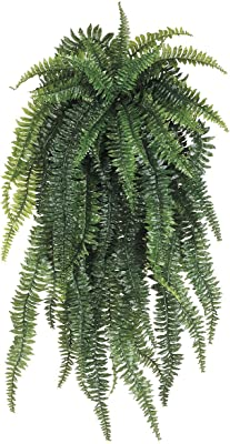 5-1//2-Inch Artificial Fern Candle Ring Green