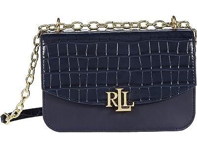 LAUREN Ralph Lauren Madison 22 Crossbody (Lauren Navy) Handbags