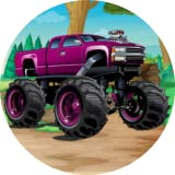 Purple Off Road Monster Machine Car Sound Button