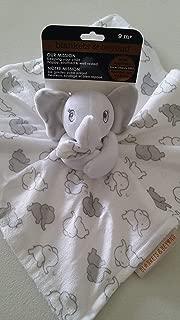 Blankets & Beyond Elephant Security Blanket (Grey & White)