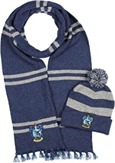 Harry Potter Hogwarts Houses Knit Ravenclaw Scarf & Pom...
