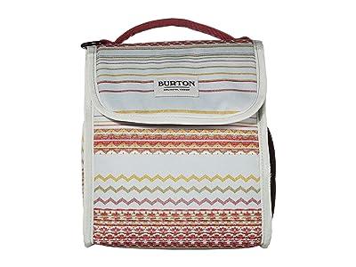 Burton Lunch Sack (Aqua Gray Revel Stripe Print) Bags