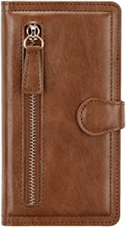 Flip Case for Samsung Galaxy S20 Ultra, brown PU Leather Wallet Cover (Compatible with Samsung Galaxy S20 Ultra)