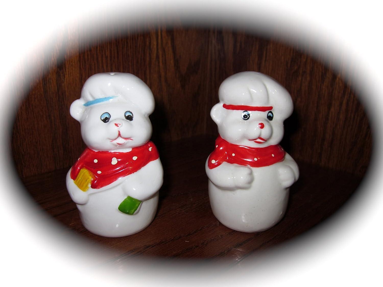 Set Super special price of Vintage Ceramic Pig Salt outlet Pepper Ta Approx 3.5