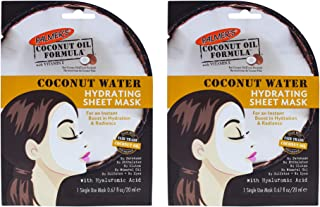 Palmers Coconut Water Hydrating Sheet Mask - Pack of 2 for Women 0.67 oz Mask