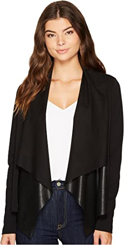 Splendid - Faux Leather Drape Jacket