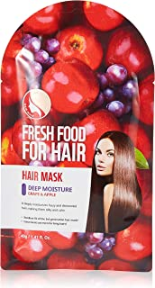 FARMSKIN Freshfood Deep Moisture Hair Mask, Grape & Apple, 40 gm