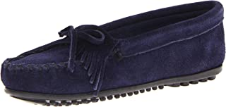 Minnetonka Womens Kilty Suede Moccasin Purple