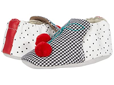 Robeez Cherry Soft Sole (Infant/Toddler) (Black/White) Girls Shoes