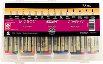 Sakura Pigma Micron Color Sets, Assorted, 73 Pack