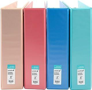 Yoobi | 3-Ring Binder | 2 inch | Multicolor Variety Pack of 4