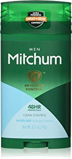 Mitchum Men Advanced Control, Clean Control Invisible Solid 2.7 oz (Pack of 2)
