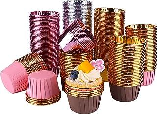 Tanshtechy 250 Pièces Caissettes Cupcakes,Moules de Cuisson en Papier d'aluminium,Caissettes de Pâtisserie,Caissettes Papi...