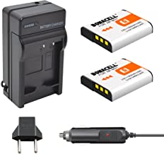Bonacell NP-BG1 Battery(2 Pack) 1600mAh and Charger Kit Compatible with Sony Cyber-Shot DSC-W220, DSC-H50, DSC-W150, DSC-H55, DSC-H3,DSC-H10, DSC-H20, DSC-H50, DSC-HX7V, DSC-HX9V DSC-W80 and More