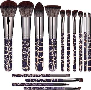 JPNK Makeup Brush Set 14PCS Premium Cosmetic Brushes With Super Velvety Synthetic Hair Face Eyeliner Blush Contour Foundation Cosmetic Brushes for Powder Liquid Cream