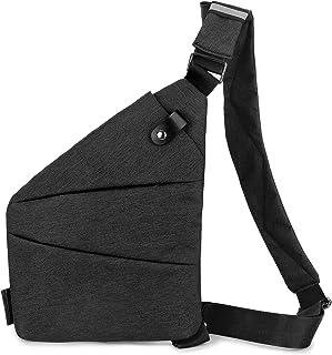 pacote de estilingue de viagem, Funien Sling Pack Mochila Crossbody Slim Bolsa de peito leve casual para esportes ao ar li...