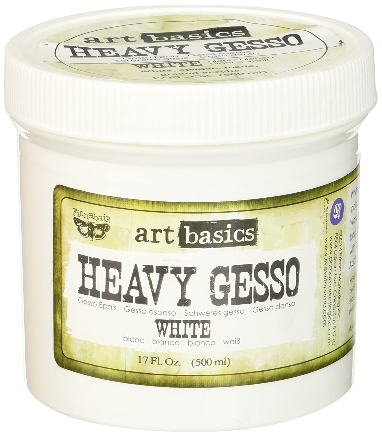 Prima Marketing Art Basics Heavy Gesso, 17-Ounce, White
