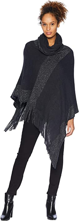 Metallic Stripe Wrap Knit Topper