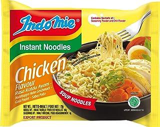 Indomie Paquete de fideos instantáneos de pollo de 40 x 70 gr 0.07 ml - Pack de 40
