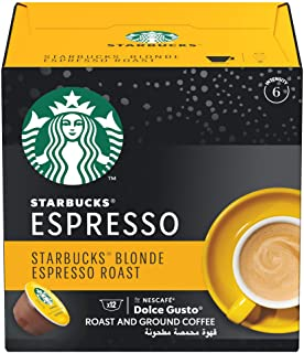 STARBUCKS Blonde Espresso Roast by NESCAFÉ Dolce Gusto Coffee (12 Capsules)