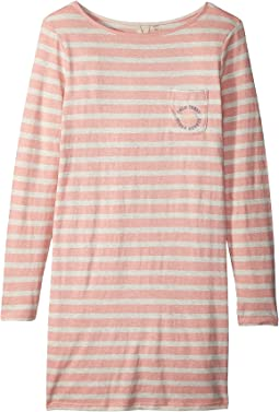 Roxy Kids Spin With Me Long Sleeve Tee Dress (Big Kids)