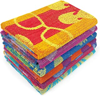 Kaufman - Terry Beach & Pool Towel 6-Pack of Assorted Designs - 30in x 60in (104700-6PK)