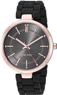 Nine West Women's Crystal Accented Rubberized Bracelet Watch