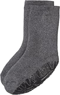Calcetines con suela de goma antideslizante, Edad: 2-3 Años, Talla: 24, Gris oscuro (mezcla de antracita)