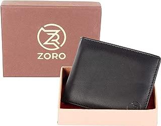 ZORO Men's Black Pu Leather Clip Wallet