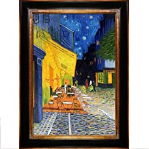 La Pastiche overstockArt Vincent Van Gogh Cafe Terrace at Night 24-Inch by 36-Inch Framed Oil on Canvas