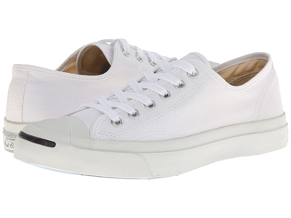 Converse Jack Purcell(r) CP Canvas Low Top (White/White) Classic Shoes