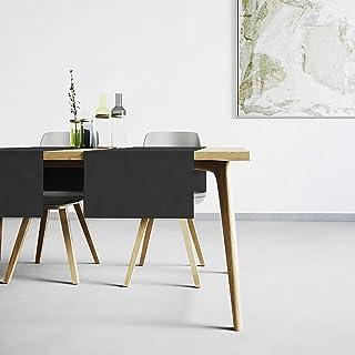 Mistral Home Chemin de Table Noir - 45x145 cm - Linge de Table Anti-Taches au touché Naturel - mélange Coton Polyester - d...