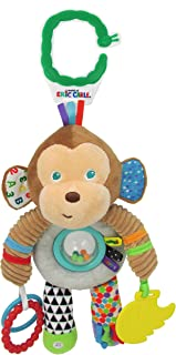 The World of Eric Carle, The Very Hungry Caterpillar Developmental Monkey Rattle Clip for Babies