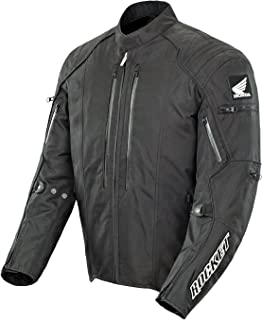 Honda Joe Rocket CBR Men's Textile Street Racing Motorcycle Jacket - Black/Black/Large