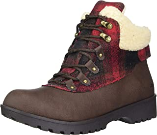 JBU by Jambu womens Redrock- Water Resistant Fashion Boot, Brown/Plaid, 7.5 Wide US