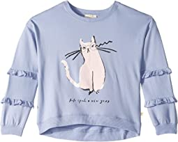 Cat Glasses Sweatshirt (Little Kids/Big Kids)