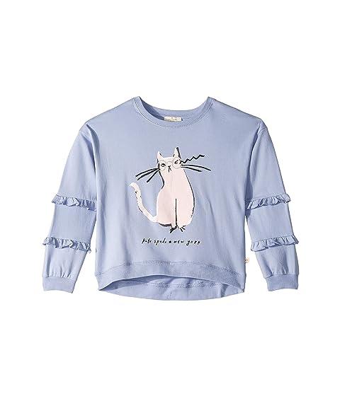 Kate Spade New York Kids Cat Glasses Sweatshirt (Little Kids/Big Kids)